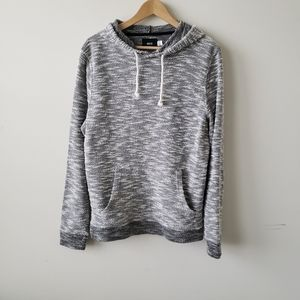 BDG urban Outfitter gray & white hooded sweater m